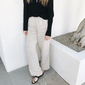 Jenni Kayne Natural Linen Pants Small